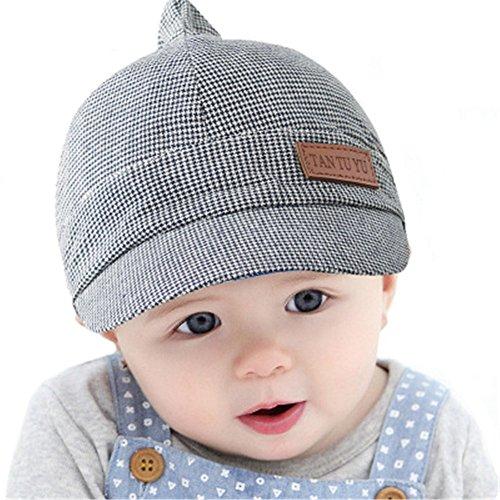 Unisex Modisch Frühling Herbst Baby Kinder Hut Barett Mütze Grau