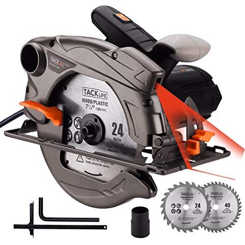 TACKLIFE 1500W 4700RPM Sierra Circular