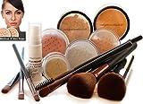 MEDIUM SKIN Bare Naked Skin Profi Mineral puder, 14 Stück Set, Make-up für alle Hauttypen mit, SPF 15, ohne Füllstoffe, ohne Talc, Farbton mittel, Gesichtspuder mit Mineralien, Intelligent Cosmetics®