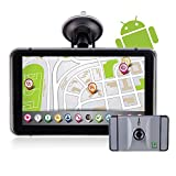 Noza Tec GPS Car Sat Nav 7 Inch with UK and Full EU Maps,Free Lifetime Map Updates,with WiFi, Bluetooth,8GB (Silver with car DVR)
