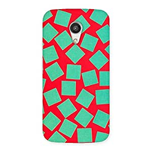 Green Red Print Back Case Cover for Moto G 2nd Gen