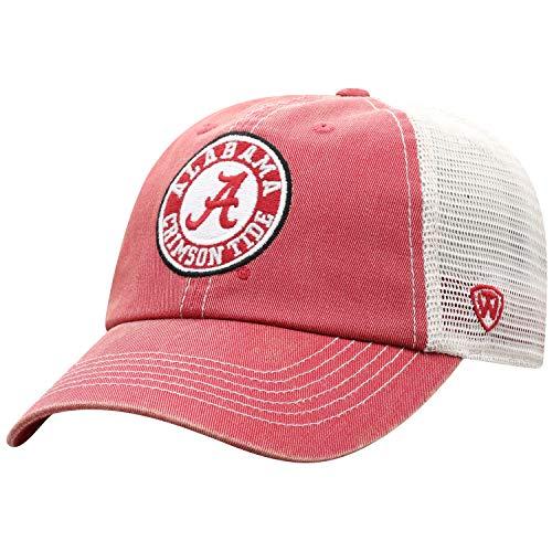 Top of the World Herren Mütze NCAA Vintage Team Icon verstellbar, Herren, NCAA Men's Vintage Mesh Adjustable Icon Hat, Alabama Crimson Tide Crimson, Einstellbar