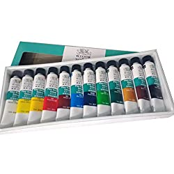 Winsor & Newton 12 Fine Acrylic Colour Set