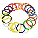HUSOAR 3D Pen Filament Refills - 400 Linear Feet 1.75mm ABS Pack of 20 Different Colors in 20 Feet Lengths image