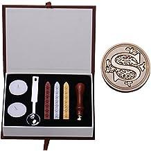 Personalizada Sello Sello clásico palillos cuchara conjunto decoración de DIY - S