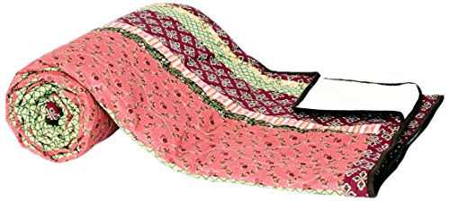 1001 Wohntraum N020-3 Quilt Betty Barock, Ranken Blumen Tagesdecke, Patchwork Shabby Decke, 220 x...