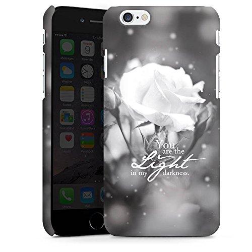 Apple iPhone X Silikon Hülle Case Schutzhülle Liebe Rose Statement Premium Case matt