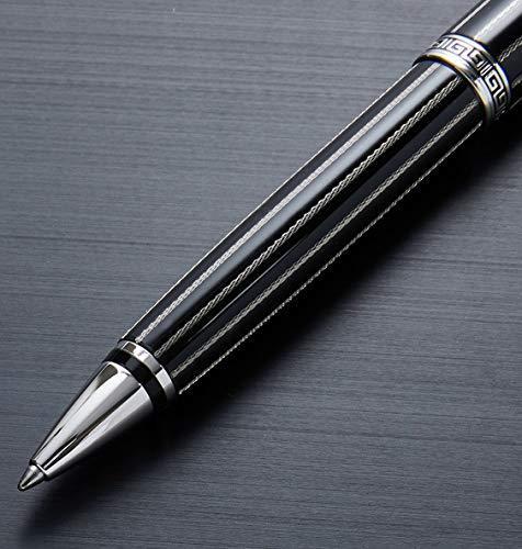Xezo Incognito LeGrand Medium Kugelschreiber, schwarz Emaille, diamantiert und platiniert, limitierte Edition von 250Stück (Incognito LG schwarz B)