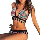 Jaminy Damen Bademode Zweiteiler Swimsuits Badeanzug Bikini-Set Zweiteiler Strand Swimwear Swimsuits Beachwear (Mehrfarbig, L)