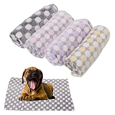 Biniwa Cartoon Washable Pet Blanket, Soft Fleece Winter Warm Comfortable, Dog Cat, Sleep Bed Quilt Thick Nest Sleep Mat Cover Cushion by Biniwa