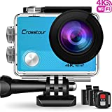 Crosstour Action Cam Sport-Kamera 4K Wifi 16MP Camera mit Fernbedienung Ultra HD 30M...