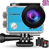 Crosstour Caméra Sport 1080P Full HD Wi-FI Étanche 30M 12MP 170...