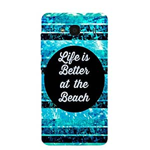Back cover for Redmi 2 Life is Better at the Beach