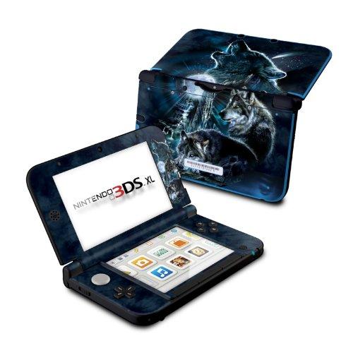 Nintendo 3DS XL Skin Schutzfolie Design modding Sticker Aufkleber - Wolf Howling