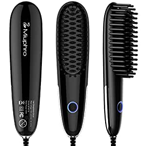 Miuphro Mini Hair Straightener Brush, Suitable for Various