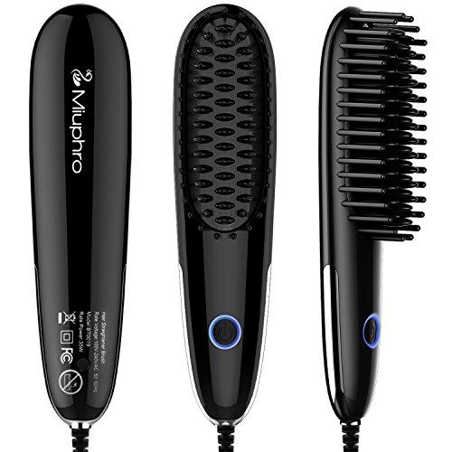 Miuphro Mini pelo cabello cepillo, portátil rápido calefacción pelo alisado de Peine Plancha de pelo...