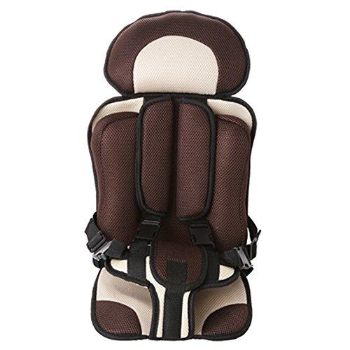 sitz, Booster-Autositz, Gruppe 2/3 (9-36 kg) Altersgruppe: Kinder ab 9 Monaten - 12 Jahre, grau, Bezug für Sitzkissen und Rückenlehne,Brown ()