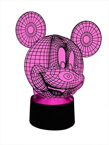 Lampada originale a LED 3D, cambia colore, lampada usato  Spedito ovunque in Italia