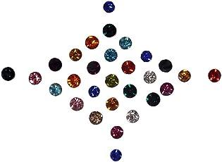 Sunaina Love Diamond Collection Multicolor Small Size Stone Bindis for Women [LC094]