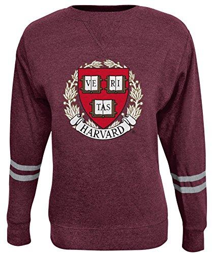 Alta Gracia NCAA Damen Crew Sweatshirt, Damen, Rosaura, kastanienbraun, Small Scoop Neck Fleece Sweatshirt