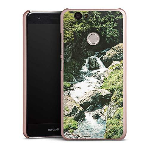 DeinDesign Hülle kompatibel mit Huawei Nova Handyhülle Case Wasserfall Felsen Gebirge -