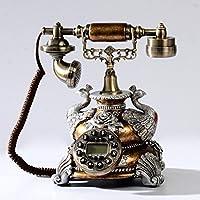 HGJSMN Telefono Fisso Decorativo Telefono Antico A Linea Fissa Telefono A Pulsante A Linea Fissa con Suoneria Classica in Metallo (Color : Oil Color Embroidered)