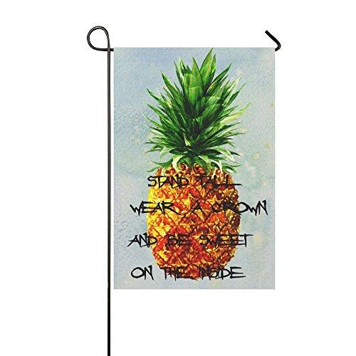 interestprint Sommer Tropische Ananas Polyester Garten Flagge Haus Banner 30,5x 45,7cm, inspirierendes Zitat Fahne Deko für Hochzeit Party Yard Home Outdoor Decor