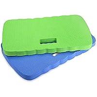 Skyoo 2 unidades de rodilleras, rodilleras, rodilleras de jardín, baño, rodilleras, para jardinería, bañera de bebé, para limpieza, para bebé, para bebés y ejercicios, 40,64 x 20,32 x 2,54 cm (azul verde)