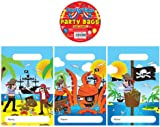 12 Pirate Design Childrens Party Bags / Kids Fillers Gifts Favours Toys Sweets