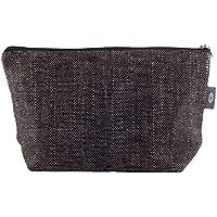 Handtaschen Schwarzer Kosmetiktasche 100% Leinen - Reißverschluss-Beutel Schminktasche, Make-up Beutel   ThingStore