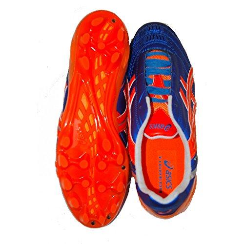Asics , Chaussures de foot pour homme MARINE BLUE/FLASH ORANGE/SILVER Bleu - Azzurro