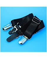SevenAndEight Women's Elastic Stocking Garter Metal Clips