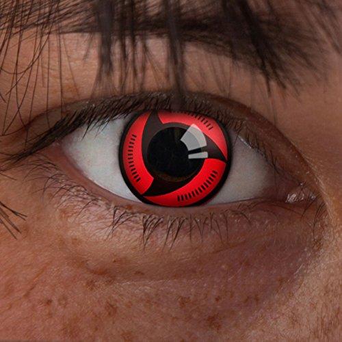 (aricona Farblinsen Sharingan Kontaktlinse Ardor -Deckende,farbige Jahreslinsen für dunkle und helle Augenfarben ohne Stärke,Farblinsen für Cosplay,Karneval,Fasching,Motto-Partys und Halloween Kostüme)