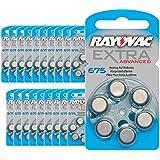 120 piles auditives Rayovac 675 Extra advanced / pile auditive PR44 / piles pour appareils auditifs / 675AE,A675,DA675,P675,PR675H