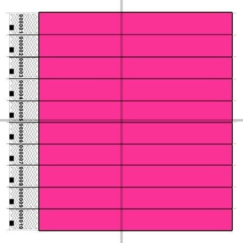Preisvergleich Produktbild Tyvek Eintrittsbänder, Neon, Pink, (1 Box mit 1000)