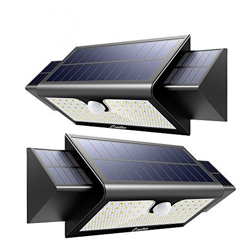 【2 Pezzi】Zanflare 71 LED Lampada Solare con Sensore di Movimento, 5200mAh, Lampada di Sicurezza con Rilevatore di Movimento, Luci Solari Impermeabile per Giardino, Cortile, Vialetto, Scala,ecc