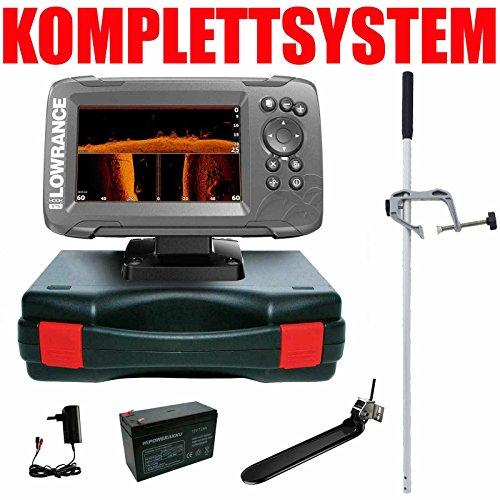 Lowrance Echolot Plotter Portabel Master Hook2 5 TripleShot Chirp Combo GPS Lowrance Plotter