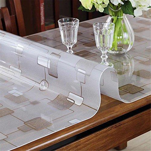 LovePads 1,5 mm Dicke Schreibtisch-Schutzfolie, rechteckig, wasserabweisend, Kunststoff, Rutschfeste Schreibunterlage für zu Hause und im Büro 20