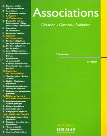 Associations : Création, gestion, évolution