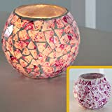 Teelichthalter,Mosaik Glas Kerzenhalter Kerzenständer Hochzeit Dekor-Geschenk Jahrgang Candelabra Romantische Teelichthalter Kerzenhalter (G)