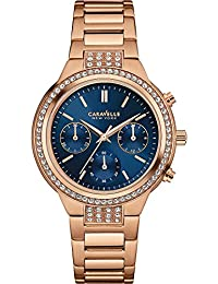 Damen-reloj Caravelle Nueva York cuarzo analógico talla única, colour azul, rosa/azul