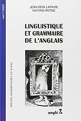LINGUISTIQUE ET GRAMMAIRE DE L'ANGLAIS