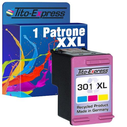 Tito-Express PlatinumSerie 1 Patrone kompatibel mit HP 301 XL Color Deskjet 1000 3054a 3055 1050 1055 2050 2510 3050