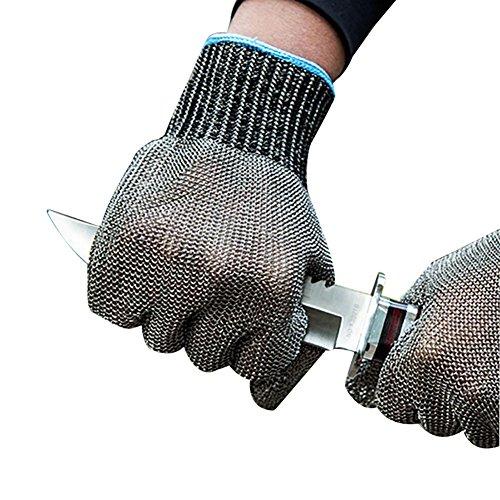 JZDCSCDNS Draht Handschuhe Schnittfest Anti-Kratz Anti-Zerreißen Verschleißfest Ergonomie Persönlicher Schutz Schneidejob Elastische...