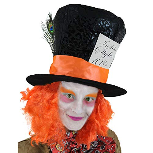 Seemeinthat Mad Hatter Hut Damen Alice Tea Party Fancy Dress Accessory Wonderland