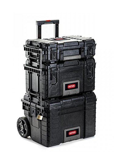 3 in1 Keter Rigid 22' Werkzeugkoffer Gear XXL Werkzeugkasten Rollen Trolley