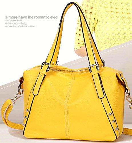 X&L Damen Handtasche Mode Casual Soft Diagonale Umhängetasche Yellow