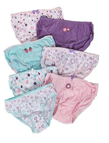 New Kids Girls Boys 7 Pairs Pack 100% Cotton Briefs Childrens Underwear Size 5-6 Years