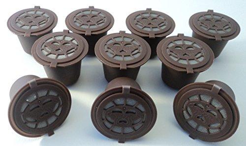 Coffee2u recargable reutilizable cápsulas de café para Nespresso - 10 café Pods - (compatible con todas las cafeteras MONODOSIS Nespresso de después de octubre 2010)