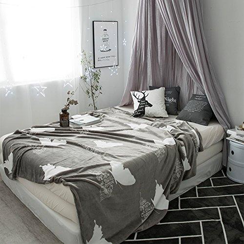 Znzbzt Coral Fleece Decken flanell Decke dicke Single Twin Bettwäsche Mittagsschlaf Klimaanlage decke Handtuch niedrig sein, 150*200cm (Decke), die Sprache der Schmetterling